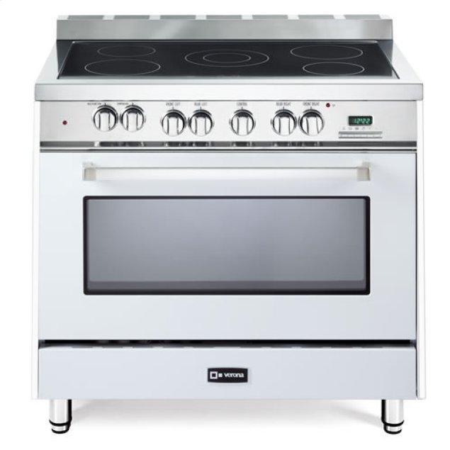 "Verona White 36"" Electric Single Oven Range"