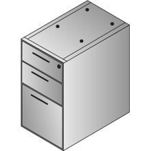 B/b/f 3-drawer Ped