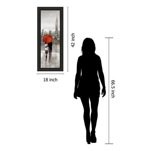"Classy Art - ""New York Stroll"" By Ruanne Manning Framed Print Wall Art"