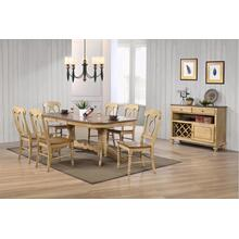 DLU-BR4296-C50-SRPW8PC  8 Piece Double Pedestal Extendable Dining Set with Server