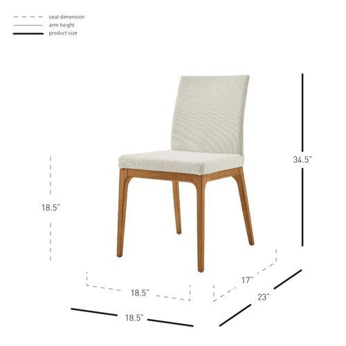 Product Image - Devon KD Fabric Dining Side Chair Walnut Legs, Cardiff Cream