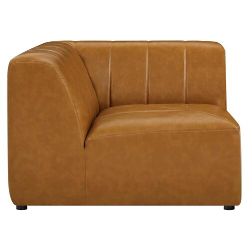 Bartlett Vegan Leather Corner Chair in Tan