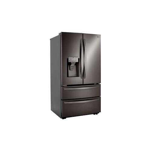 22 cu ft. Smart Counter Depth Double Freezer Refrigerator with Craft Ice™