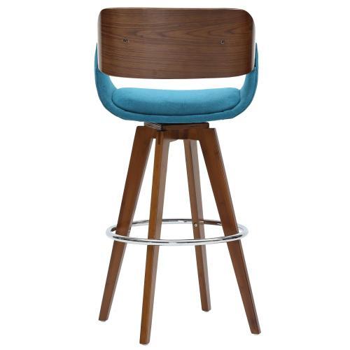 Product Image - Cyprus KD Fabric Bamboo Counter Stool, Santorini Teal/Walnut