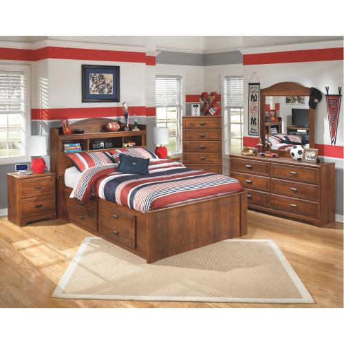 Signature Design By Ashley - Barchan Full Bookcase Bed With 4 Storage Drawers