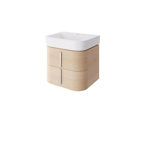 """Dxv - Equility 22"""" Wall-Hung Vanity - Canvas White/Natural Oak"""