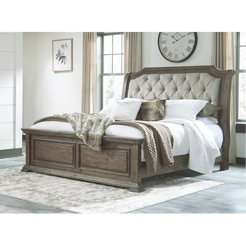 Wyndahl King Upholstered Panel Bed