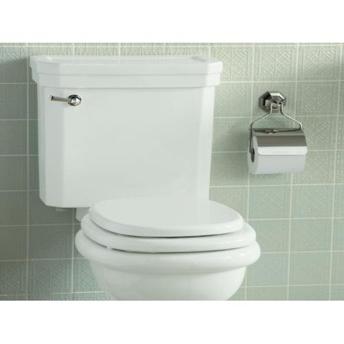 Two-Piece High Efficiency Toilet, Elongated, Less Seat - Stucco White