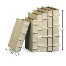See Details - Ecru Linen Books, Set/6
