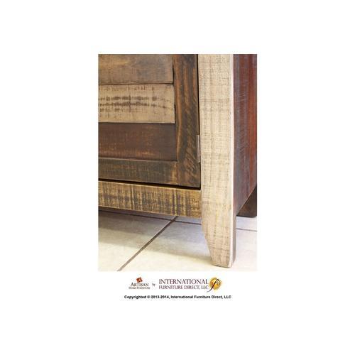 Bookcase w/2 wood doors