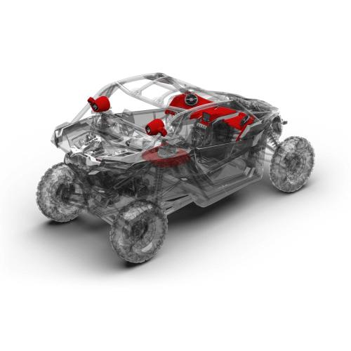 Rockford Fosgate - 400 watt stereo, front speaker, subwoofer, & rear speaker kit for 2017-2018 Maverick X3 models