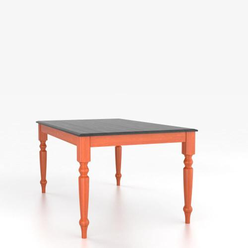 Canadel - Rectangular table with legs