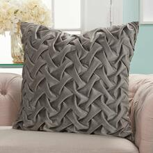 "Life Styles L0064 Dark Grey 22"" X 22"" Throw Pillow"