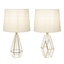 Gold Facet Accent Lamp. 40W Max. (2 pc. ppk.)