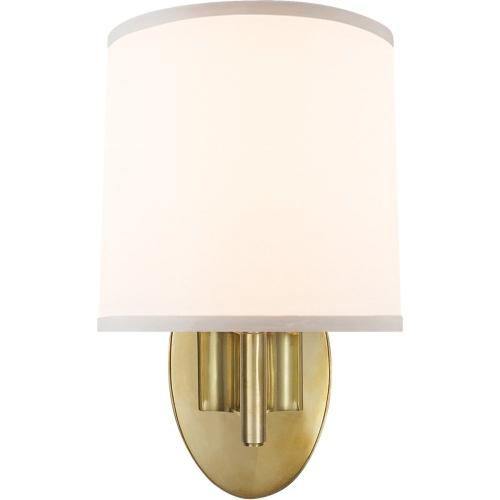 Visual Comfort BBL2038SB-S Barbara Barry Graceful Ribbon 1 Light 7 inch Soft Brass Decorative Wall Light