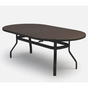 """42"""" x 82"""" Oval Bar Table (with Hole) Ht: 40"""" 37XX Universal Aluminum Base (Model # Includes Both Top & Base)"""