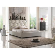 Modrest C620 Modern White & Black Bonded Leather Bed