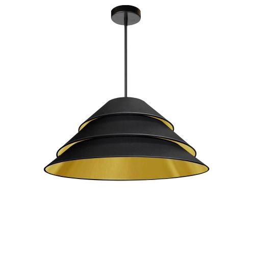 1lt Aranza Pendant Black/gold Shade, Black