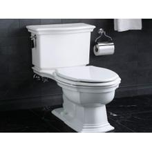 Colored Wood Toilet Seat, Elongated, with Nickel Silver Trim - Stucco White