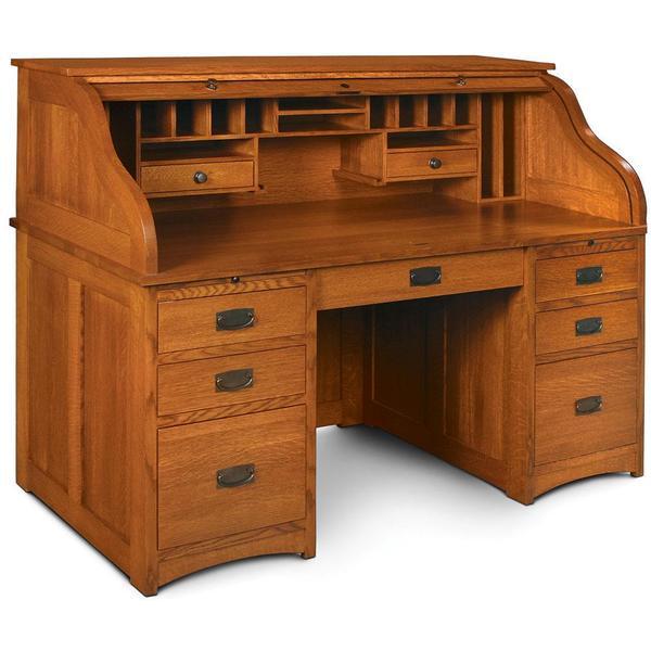 "See Details - Prairie Mission Rolltop Desk, 56""w x 31""d x 48""h"