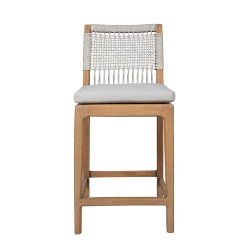 Capris Furniture - 24'' Bar Stool, Available in Mahogany Taupe (w Taupe Loose Cushion).