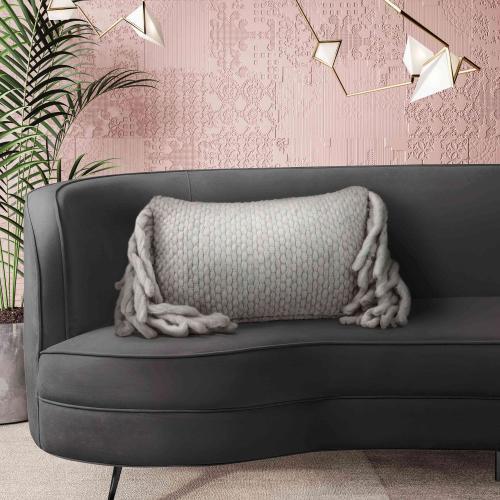 Tov Furniture - Afrino Wool Grey Pillow