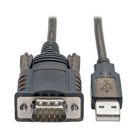 RS232 to USB Adapter Cable with COM Retention (USB-A to DB9 M/M), FTDI, 5 ft.