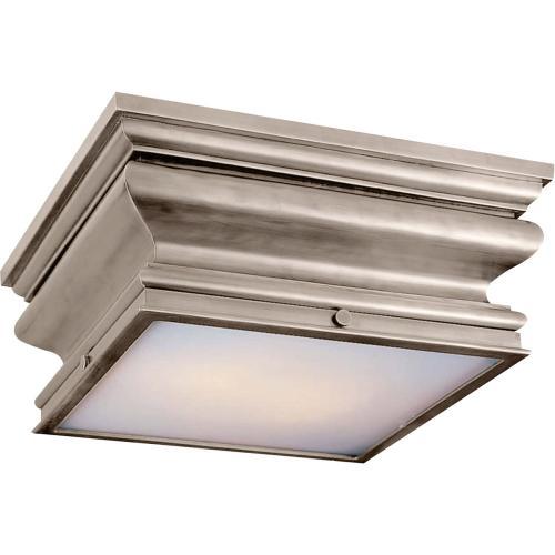 Visual Comfort CHC4215AN E. F. Chapman Square Fl 2 Light 14 inch Antique Nickel Flush Mount Ceiling Light