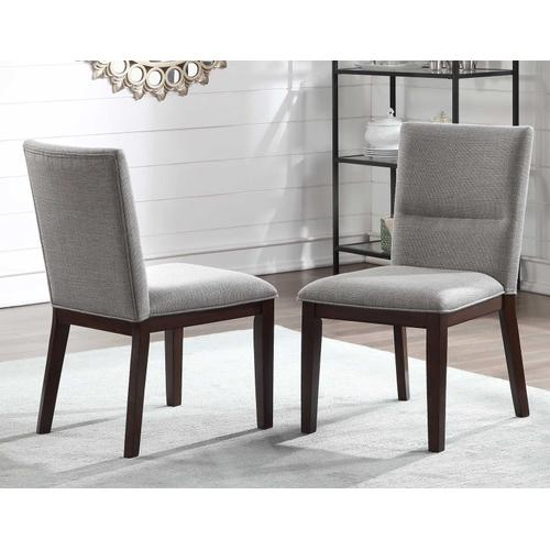 Amalie Camel Linen 5 Piece Set (Glass Top Table & 4 Side Chairs)