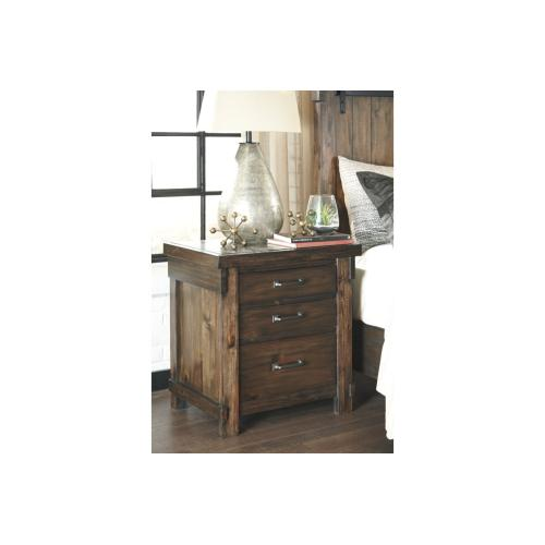 Lakeleigh Three Drawer Night Stand Brown