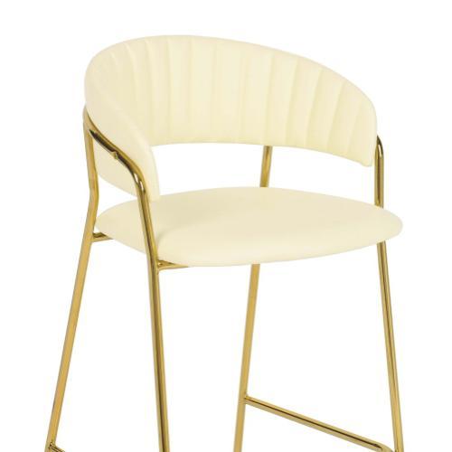 Tov Furniture - Padma Cream Vegan Leather Counter Stool (Set of 2)