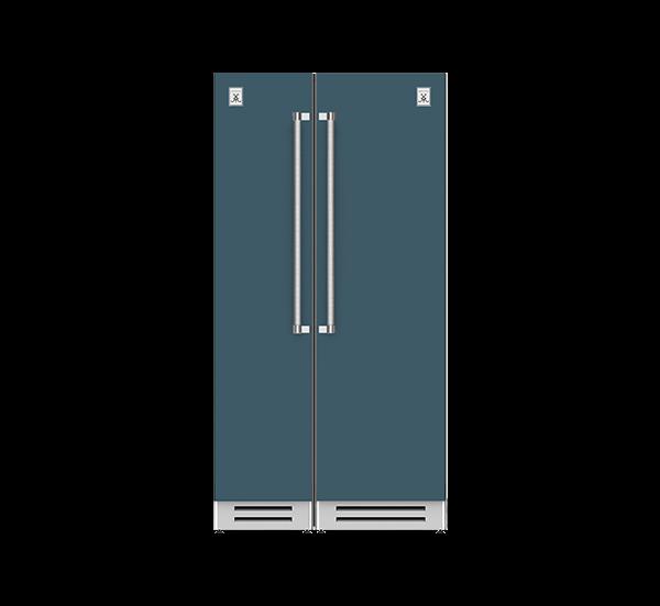"42"" Column Freezer (L) and Refrigerator ® Ensemble Refrigeration Suite - Pacific-fog"