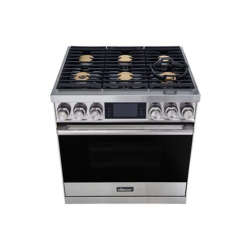 "36"" Range, Graphite Stainless Steel, Natural Gas"