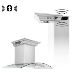 Zline KitchenZLINE Wall Mount Range Hood in Stainless Steel with Built-in CrownSound™ Bluetooth Speakers (KN4CRN-BT) [Size: 42 Inch]