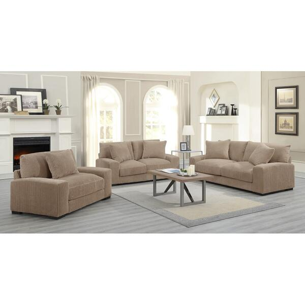 See Details - Big Chill Tan Sofa, Loveseat, 1.5 Chair & Swivel Chair, U2247