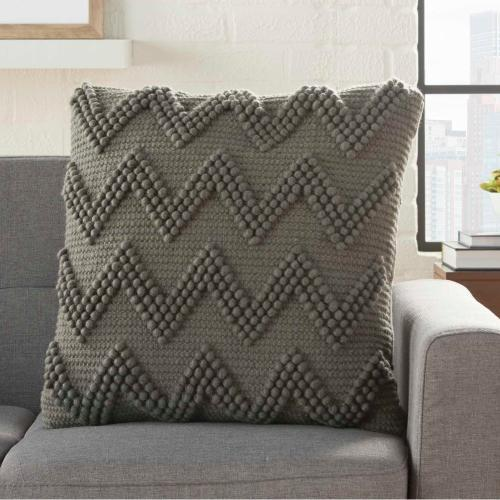 """Life Styles Dc173 Charcoal 20"""" X 20"""" Throw Pillow"""