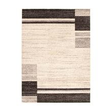 Holland - Contemporary Squares Area Rug, Beige and Brown, 5' x 7'