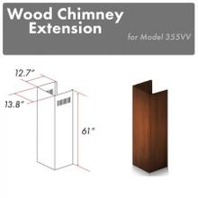"""See Details - ZLINE 61"""" Wooden Chimney Extension for Ceilings up to 12.5 ft. (355VV-E)"""