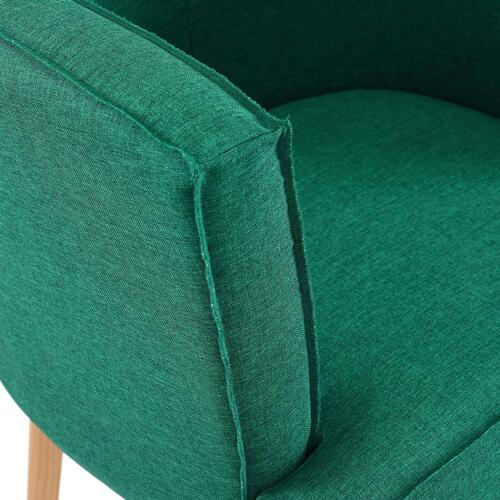 Anders Accent Chair Upholstered Fabric Set of 2 in Teal