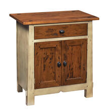Nightstand with One Drawer and Two Doors
