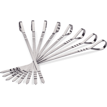 Eight Stainless Steel Multifunctional Skewers