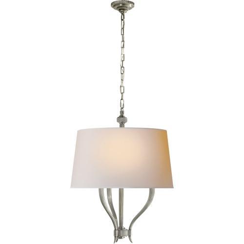 Visual Comfort CHC2463AN-NP E. F. Chapman Ruhlmann 3 Light 22 inch Antique Nickel Hanging Shade Ceiling Light