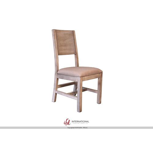 Wooden chair with fabrci seat**