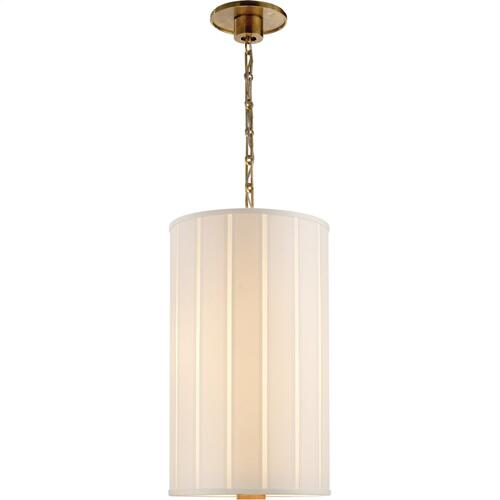 Visual Comfort BBL5033SB-S Barbara Barry Perfect Pleat 2 Light 13 inch Soft Brass Hanging Shade Ceiling Light