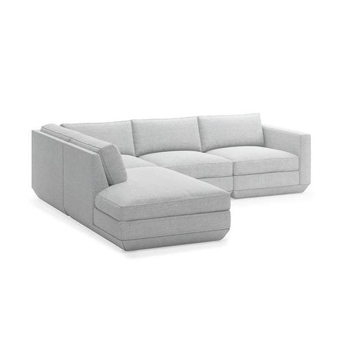 Product Image - Podium 4PC Lounge Sectional A New Bayview Silver / Left Facing