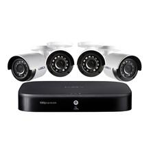 1080p Full HD 8-Channel Security System with 1 TB DVR and Four 1080p Night Vision Bullet Cameras with Smart Home Voice Control