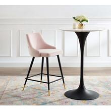 Adorn Performance Velvet Counter Stool in Pink