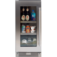 15in Beverage Center SS Glass LH