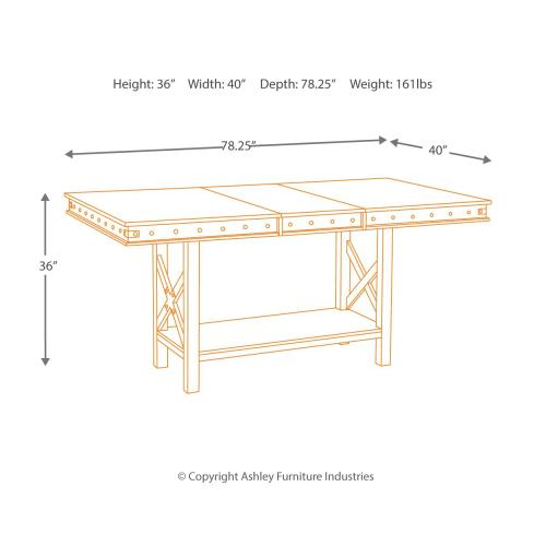 Collenburg Counter Height Dining Extension Table