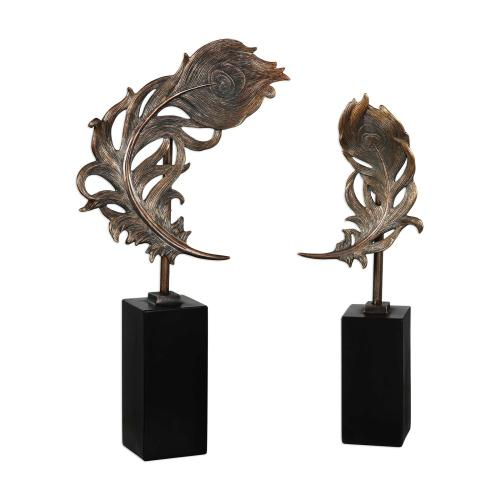Quill Feathers Sculpture, S/2